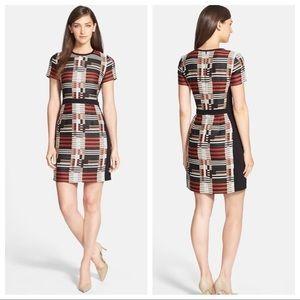 Hugo Boss Hesandra1 Tweed Pattern Sheath Dress 10